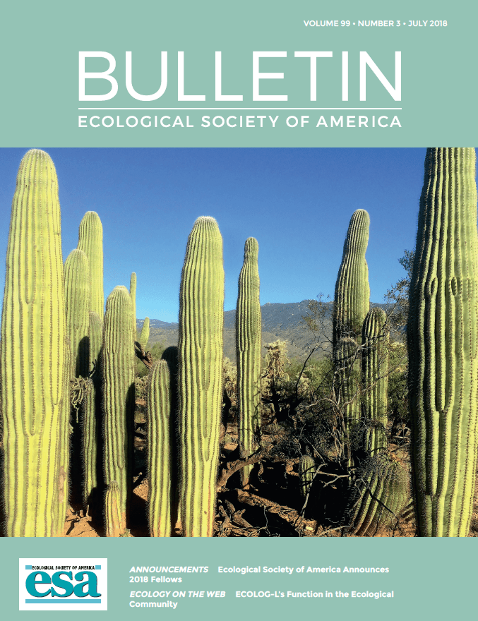 Bulletin of the Ecological Society of America cover photo and gallery!
